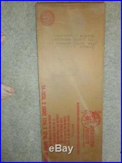 Vintage Original NOS GATES TIRES Gas Station Vertical Tin Advertising SIGN in BO