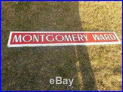 Vintage Original PORCELAIN MONTGOMERY WARD Department Store Advertising SIGN