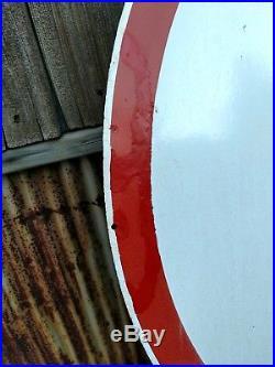 Vintage Original Pontiac Dealership Porcelain Sign Neon Large Feather Auto SSP