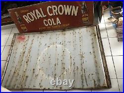 Vintage Original Porcelain Advertising Soda Sign Drink Coca Cola Fountain Servi