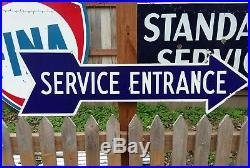 Vintage Original Service Entrance Porcelain Arrow Ford Chevrolet Dodge