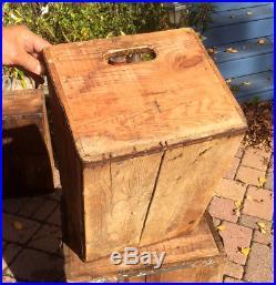 Vintage Rare Grain Belt Beer Brewery Wood Box Crate Bottle Cap Sign St Paul MN