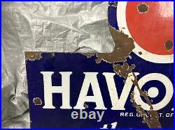 Vintage Rare Havoline Indian Refining Company Porcelain Sign Double