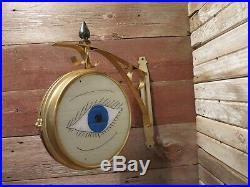 Vintage Rare Metal Optometrist Clinic Hospital Display Trade Sign Eye Care