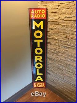 Vintage & Rare Radio Advertising Sign Motorola Auto Radio Home Radio
