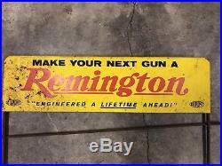 Vintage Remington Rifles Store Display & Rack Antique Original Gun Sign RARE