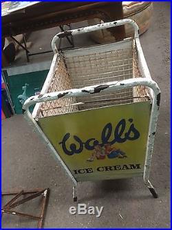 Vintage Retro Advertising Walls Ice Cream Enamel Sign Litter Bin 4 Signs