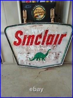 Vintage Sinclair gas porcelain sign