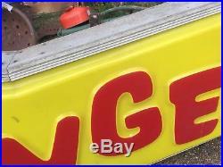 Vintage Swinger Carnival Ride Lighted Sign Dodge Dart Mancave Art Lifestyle
