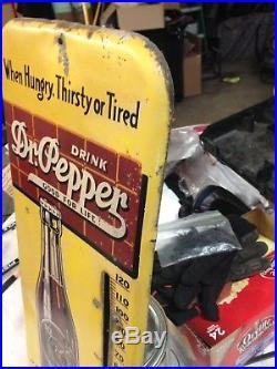 Vintage Working Dr Pepper Thermometer Antique Soda Pop Beverage Advertising Sign
