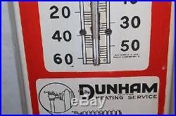 Vintage c. 1915 Steam Radiator Heat Gas Oil 39 Porcelain Metal Thermometer Sign