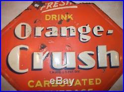 Vintage original Orange Crush Sign