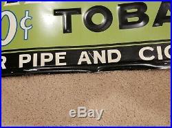 Vintage original tin sign advertising Hi Plane tobacco great graphics 36in x 12