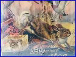 Vntage Very Rare Remington Nitro Express Club Dealer Display Sign Poster 1920s