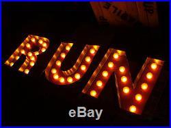Vtg Marquee Arrow Industrial Signs Restaurant Art Lights
