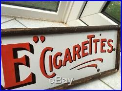 Willss Gold Flake Cigarettes Vintage Original Enamel Advertising Sign